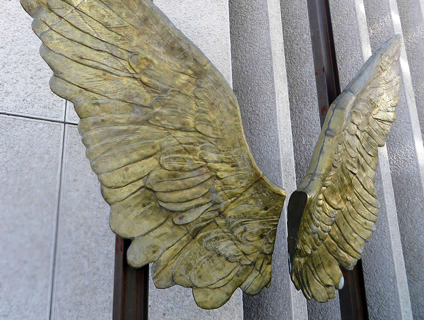 Wings of Mexico sculpture - interactive artwork outside the Mexican Embassy, Berlin