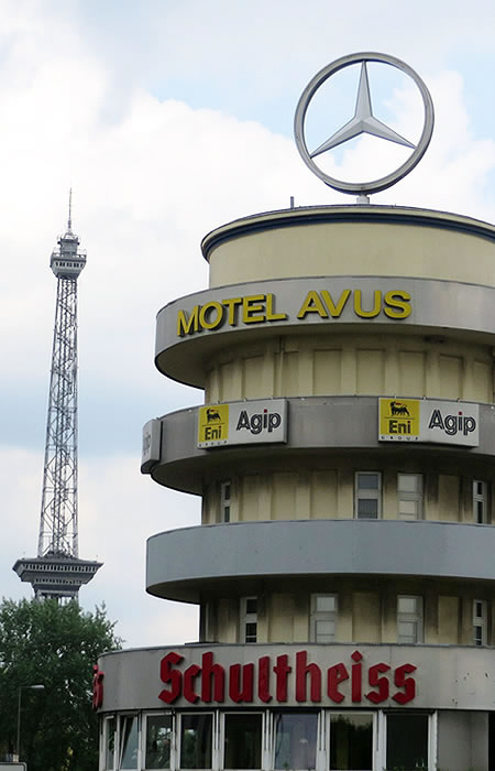 The AVUS race track control tower, Berlin, is now a motel