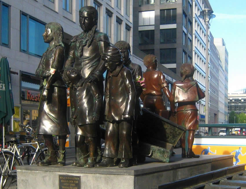 Memorial sculpture, Trains to Life, Trains to Death, Friedrichstrasse Station, Berlin