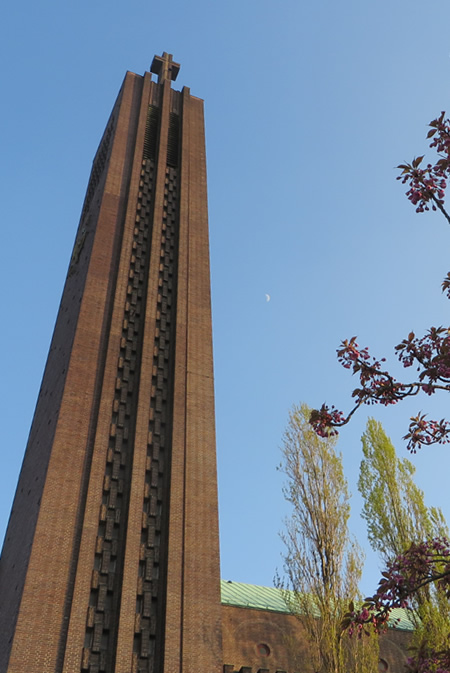 The Brick Expressionist Church at Hohenzollerndammplatz - the bell tower