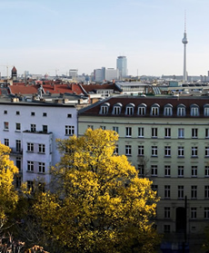 Beautiful views of Berlin's Prenzlauer Berg