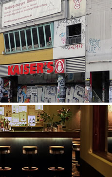 Bars with views across the U-Bahn tracks at Kottbusser Tor, Kreuzberg, Berlin