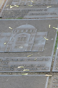 A sobering memorial to the Jewish transportations and destruction of synagogues, Berlin, Moabit