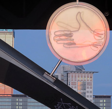 Never-ending art games on Berlin's most iconic bridge